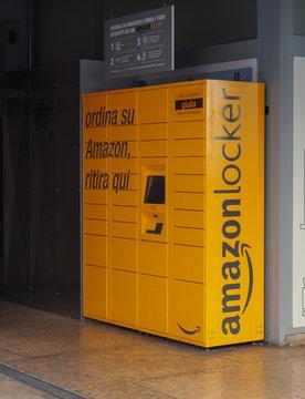 VERONA - MAR 2019: Amazon locker
