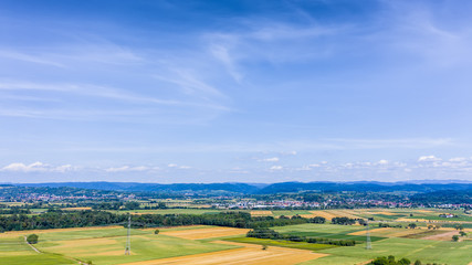 aerial view of Kaiserstuhl area south Germany