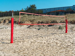 Vacant Beach volleyball sand court