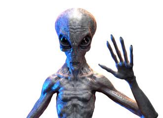 Foto op Aluminium UFO gray alien. 3d render