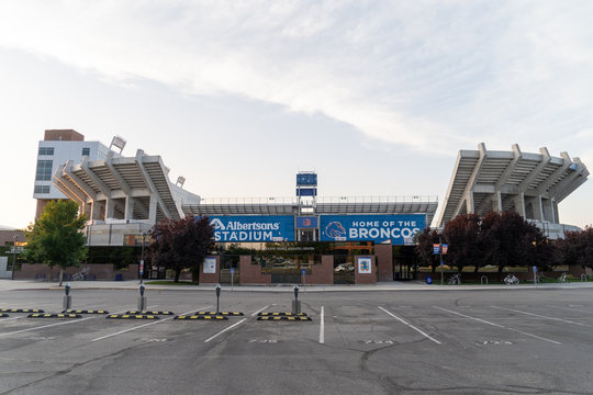Boise, Idaho - July 21, 2019: Exterior view of the Albertsons Stadium, home of the Boise State Broncos football team