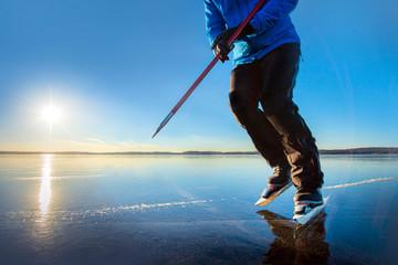 Man skating in sweden