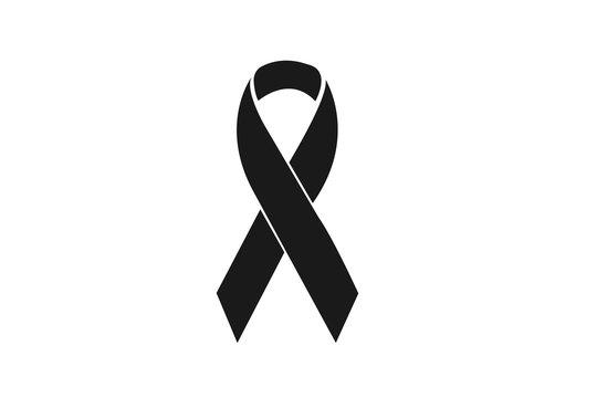 breast cancer awareness ribbon flat icon