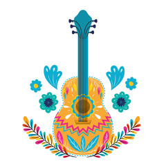 mexican guitar isolated icon vector illustration