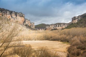 Autumn view of a mountain valley