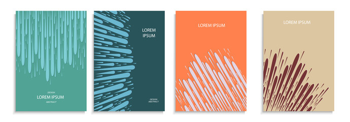 set of covers with a flat geometric pattern. abstract color background.