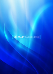 abstract ิcurving and smooth flow blue background, Vector illustration