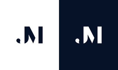 Abstract letter JM logo. This logo icon incorporate with abstract shape in the creative way.