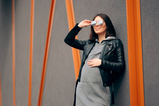 Fashion Portrait of a Stylish Pregnant Woman