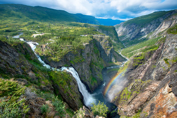 Beautiful view of the Voringsfossen waterfall.