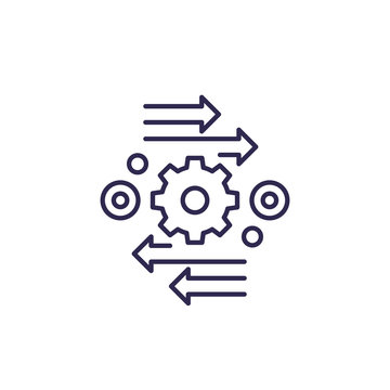 automation and optimization vector line icon