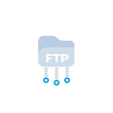 ftp protocol vector icon, flat