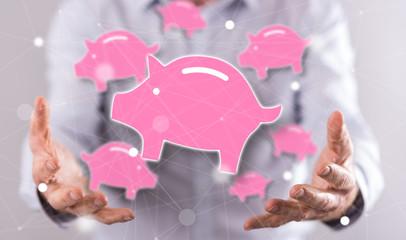 Concept of money saving