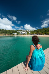 Woman at Anguilla island, caribbean