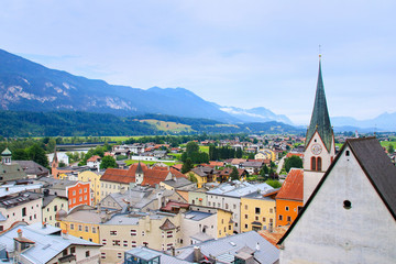 """Cityscape of the historical city """"Rattenberg"""" - Tyrol, Austria"""
