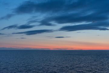 Baltic sea at beautiful sunset