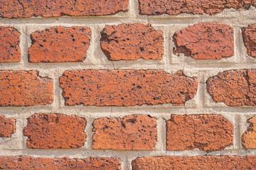 Hintergrund Mauer aus alten Ziegelsteinen closeup - Background wall of old bricks closeup
