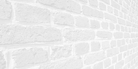 Hintergrund Mauer aus alten Ziegelsteinen perspektivisch closeup high-key schwarzweiß - Background brick wall from old bricks perspective closeup high-key black and white