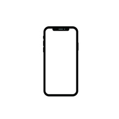 phone front isolated on white background