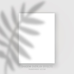 Shadow overlay effects transparent vector