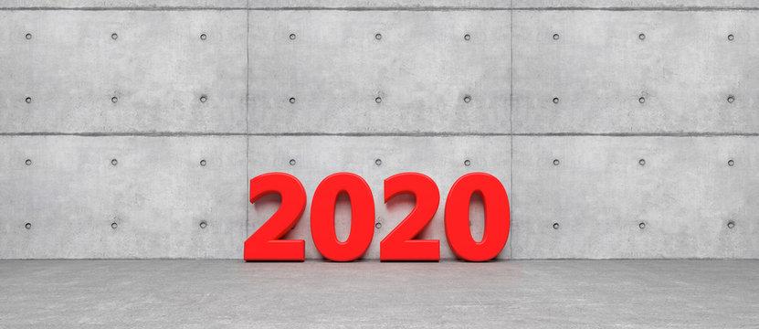 happy near year 2020 symbol - 3D Illustration