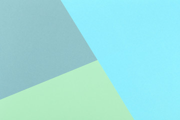 Paper green, blue, gray empty background, geometrically located. Color blank for presentations,...
