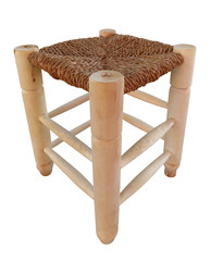 Wooden wicker chair isolated