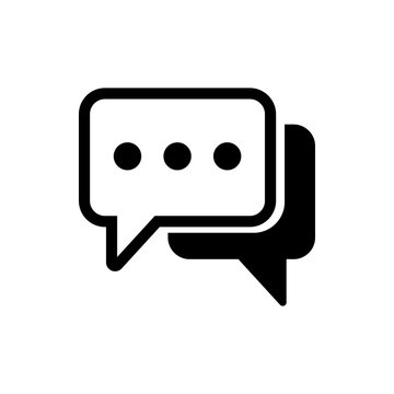 Chat icon vector. Chat vector icon. Speech bubble.