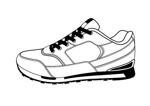 Sneakers logo in vector.Sneakers on a white background.