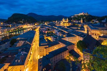 beautiful view of Salzburg skyline