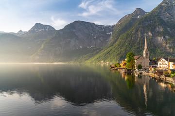 Hallstatt village on Hallstatter lake