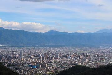 甲府の街並み(山梨県甲府市),kofu city,yamanashi pref,japan