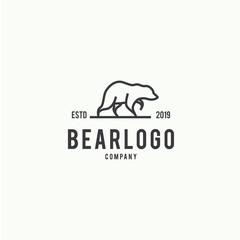Bear Logo Design Template Inspiration - Vector