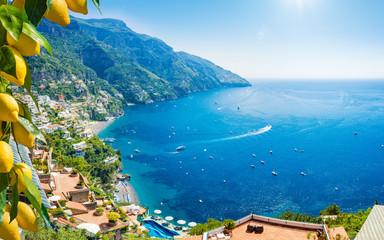 Photo sur Aluminium Europe Méditérranéenne Beautiful Positano on Amalfi Coast in Campania, Italy