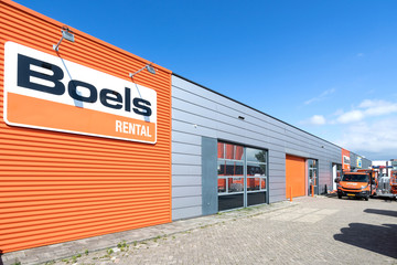 LEIDERDORP, THE NETHERLANDS - June 19, 2018: Boels Rental store. Boels Rental is an equipment rental company based in Sittard, the Netherlands.