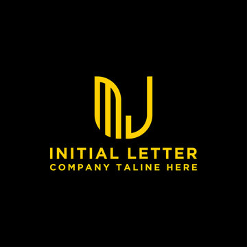 logo design inspiration, for companies from the initial letters MJ logo icon. -Vectors
