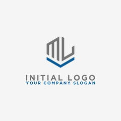 logo design inspiration, for companies from the initial letters of the ML logo icon. -Vectors