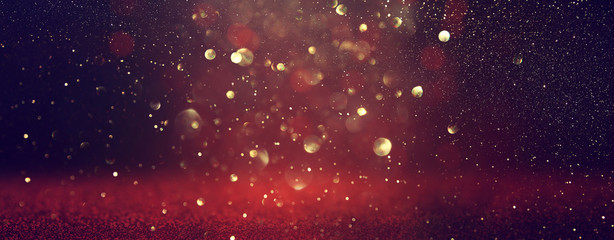 background of abstract Red glitter lights . defocused. banner Fototapete