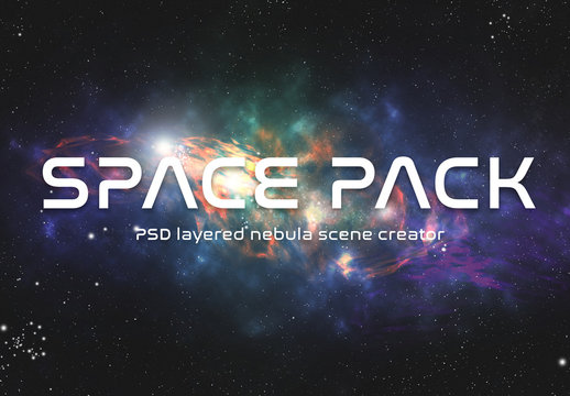 Space Nebula Scene Creator Kit