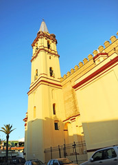 Church of St Anthony Abbot (San Antonio Abad in Trigueros a town in the province of Huelva Andalusia Spain