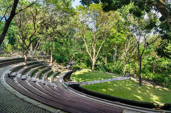 Amphitheater in Ubud Monkey Forest on Bali, Indonesia