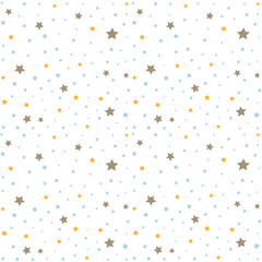 Seamless pattern with stars, baby shower invitation card