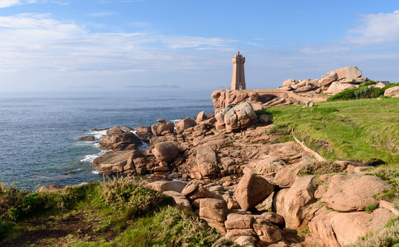 The Ploumanac'h lighthouse (officially the Mean Ruz lighthouse) is an active lighthouse in Côtes-d'Armor, France, located in Perros-Guirec.