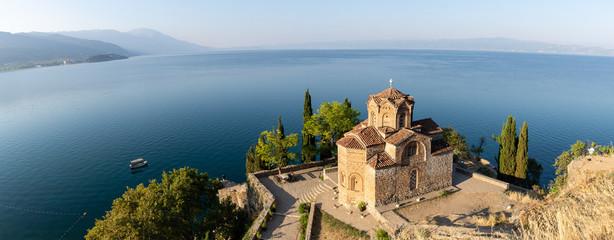 Panorama du lac d'Ohrid, Macédoine du Nord