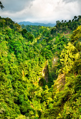 Landscape at Sewu Waterfalls in East Java, Indonesia