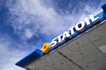 ALESUND, NORWAY - June 10, 2017: Statoil gas station. Statoil is a Norwegian multinational oil and gas company headquartered in Stavanger, Norway.