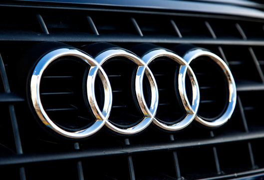 Detail of the Audi car. Audi is German automobile manufacturer founded at 1932 and now have 9 production facilities in 8 countries.