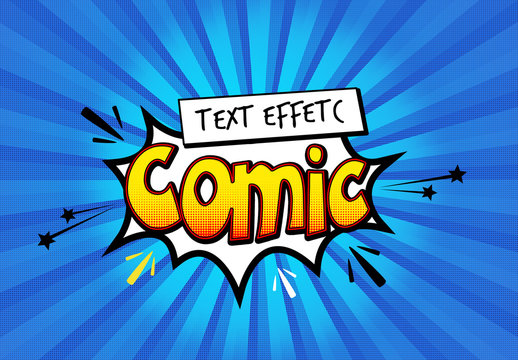Comic Book Text Effect