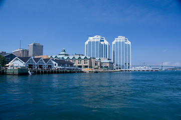 Canada, Nova Scotia, Halifax. City views of Halifax from the water.