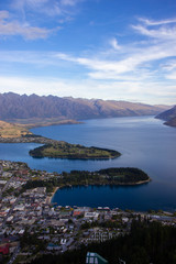 Foto auf AluDibond Neuseeland Aerial view of beautiful Queenstown, Otago, New Zealand